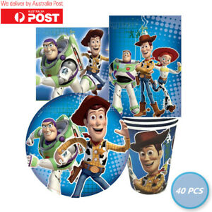 Toy Story Party Pack Tableware Supplies Decorations Woody Buzz Disney 40 PCS