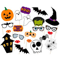 22 Pcs Colorful Props On A Stick Photo Booth Party Halloween Favor Supplies UK