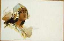 Art Nouveau 1900 Postcard: Indochina/Indo-China/Vietnam Woman - Color Litho