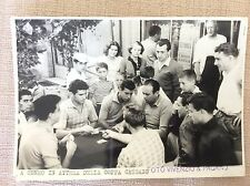 SAMPDORIA CALCIO FOTO SQUADRA RELAX A CUNEO PRIMA DERBY COPPA CASSANO ANNI '50