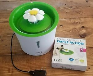 Catit Daisy Drinking Water Fountain Dispenser Cat Dog Electric Auto 1 Filter