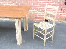 Reclaimed Antique Heart Pine Farmhouse Table french English class!! Primitive