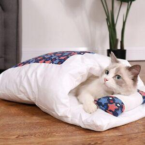 Japanese-Style Cat Sleeping Bag Closed Removable And Washable Warm Pet Dog Nest