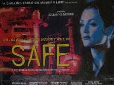 "SAFE- ORIGINAL BRITISH QUAD MOVIE  POSTER TODD HAYNES 30"" X 40"" ROLLED MINT"
