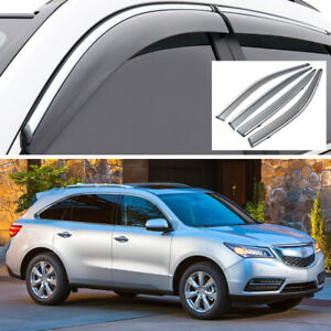 Car Window Visor Vent Deflector Sun/Rain Guards Set for Acura MDX 2014-2020