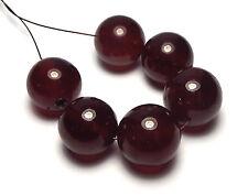 6 pcs GARNET Hessonite 12-13mm Round Beads AA NATURAL /R3