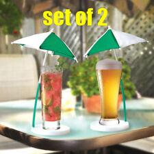 (2) Corona Beach Style Umbrella For the Sun Coaster Bar Set + 1 Milion Bill