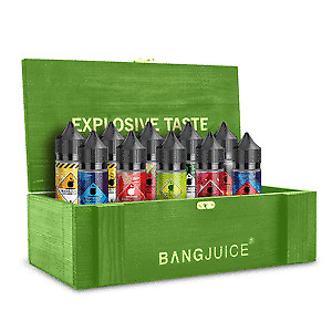 Bang Juice große Holzkiste inkl. 10 zufällige Aromen
