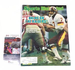 Joe Theismann Signed Washington Redskins Sports Illustrated 83 MVP JSA COA