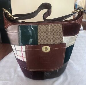 Coach Patchwork Bleecker Hobo  Bag 11356 Purse Leather Crossbody
