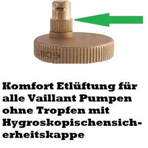 non Dripping Schnellentlüfter Vaillant Pumpe 161016 fuer  VCW- VC