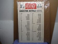 Houston Astros Coors Beer Point of Sale Counter Standee Schedule 1979