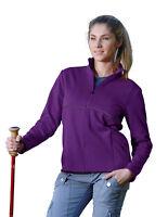 Tri-Mountain Women's Reflective Stripe Fleece Full Zip Winter Jacket. 7310