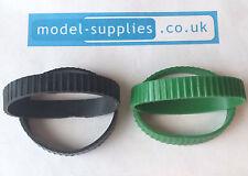 Pair of Matchbox Kingsize Reproduction Rubber Tracks Black or Green K3, K8, K17