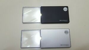 Lot Of 2 Eschenbach easyPOCKET 152111 & 152110 Illuminated Pocket Magnifier 3x