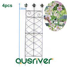 4Pcs 1.2m Garden Trellis Metal Plant Climbing Rack Flower Stand Growing Wall