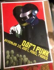2007 DAFT PUNK PARIS FULL SIZE CONCERT POSTER 11/19 LIMITED EDITION FRANCE MINT