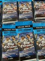 """2020 Topps Chrome Baseball Cello Value Pack! """"New & Factory Sealed"""""""