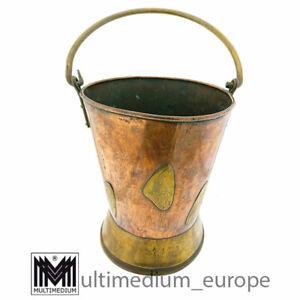 Antique Arts and Crafts copper bucket Jugendstil Kupfer Eimer Handarb 🌺🌺🌺🌺🌺