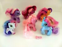 My Little Pony 2008 Lot of 6 Figures ScooTaloo Pinkie Pie Rainbow Dash