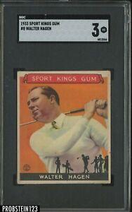 1933 Goudey Sport Kings Gum Golf #8 Walter Hagen SGC 3 VG