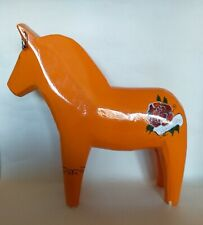 Large Orange Dala Horse. Swedish Folk Art Ornament🐴