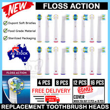 FLOSS ACTION Electric Toothbrush Heads Oral-B Braun Compatible Replacement Brush