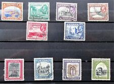 H7 - GEO V 1934 CYPRUS SHORT SET TO 18Piasgres FINE USED ON STOCK-CARD