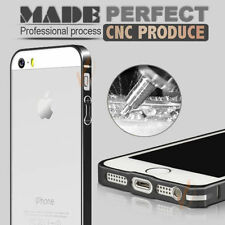 Luxury Champagne Metal Aluminum Bumper Frame Shell Case For iPhone 5 5S, black