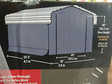 "mobiler STAHL Carport + Garage 3m x 4,8m  x 2,7m Stahlport"" M"""