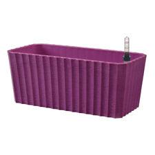 11'' Purple Self Watering Flower Pot Window Box for House Plant Flower Succulent