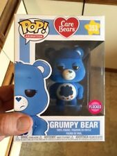 RARE Exclusive Care Bears - Grumpy Bear Flocked Funko Pop Vinyl NEW in Mint Box