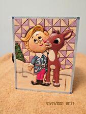 "Rudolph & Hermie Hallmark Keepsake Ornament Box Only! 5 1/2"" X 4 1/2"" X 3"""