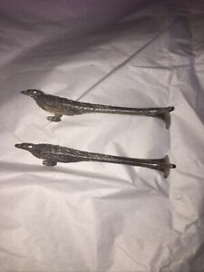 Pair Of Vintage Silver Plated Knife Rests, Phesents
