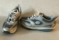 Skechers Shape Ups Athletic Shoes Womens US 9 Gray/Blue/Silver