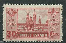 Spain Edifil # 834t ** MNH Año Jubilar - Punto delante y detras de 1937 Escaso