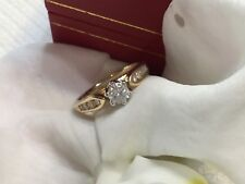 diamond  14k yellow gold engagement ring .65tcw clarity SI  GH color