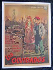 LOS OLVIDADOS LUIS BUNUEL MEXICAN MOVIE POSTER LINEN 50 The Young and the Dammed