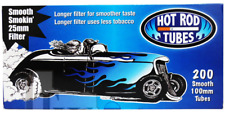 Hot Rod Smooth 100MM 100 Blue Light - 3 Boxes - 200 Tubes Box Tobacco Cigarette
