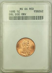 1995 Lincoln Memorial Penny 1C Coin ANACS MS 66 Red DDO