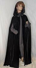 Vintage Mollie Parnis Boutique full length velvet cloak with hood