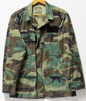 U.S. Military Hot Weather Woodland Camo Combat Coat - Size: Small-Regular