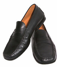 TODS Men's Citta Penny Loafers, Black Leather, Made in Italy Size 10 M