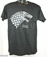 GAME OF THRONES WOLF T-SHIRT SMALL OFFICIAL HBO CLOTHING BLACK GRAPHIC TEE 2015