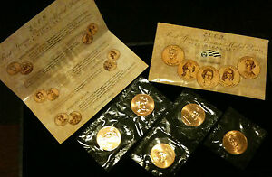 2009 FIRST SPOUSE MEDALS SET US Mint 1st Lady Presidential $ Coins All 5 Medals