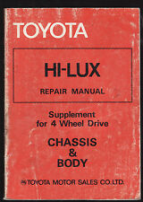 TOYOTA HI-LUX REPAIR MANUAL SUPPLEMENT FOR 4WD : CHASSIS & BODY   1979