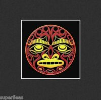 "Coast Salish Sun totem art print by JOE WILSON Salish ""Elements Series"" FIRE"