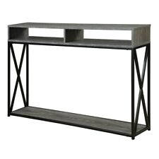 Convenience Concepts Tucson Deluxe 2 Tier Console Table, Gray/Black - 161889WGY