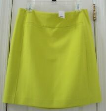 NEW TAG! ANN TAYLOR (LOFT) 8 VIBRANT NEON YELLOW STRAIGHT PENCIL SUIT SKIRT #6MD