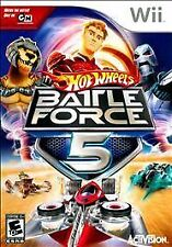 Hot Wheels Battle Force 5 Nintendo Wii Kids Racing Game